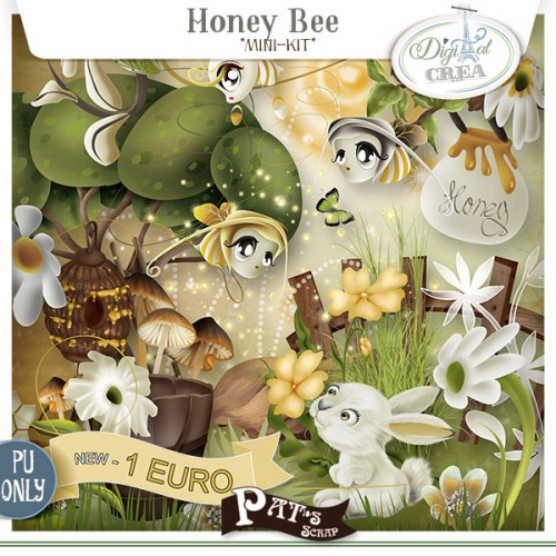 Patsscrap_Honey_Bee 1 euro