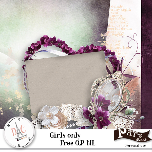 Girls only by Pat's Scrap + freebies !!!
