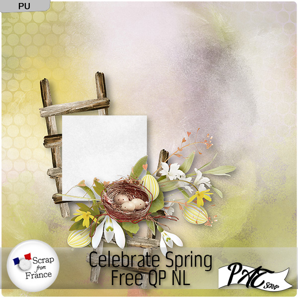 Celebrate Spring by Pat Scrap and freebie !