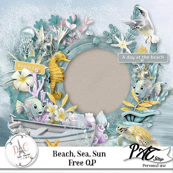 Beach, Sea, Sun by Pat Scrap + freebies